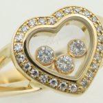 ※送料無料※【ショパール】Chopard ハッピーダイヤモンドリング 4502 K18YG(750YG 18金イエローゴールド) 【中古】 質屋出品 USED